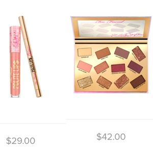 Too Faced pretty mess and polite lips
